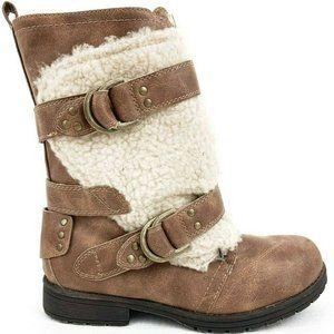 Sugar Julissa Cognac Fleece Accent Boot